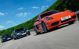 Porsche 718 Cayman S vs BMW M2 vs Jaguar F-Type: battle of the luxury sports cars