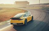 2019 Porsche 911 Carrera S track drive - track rear