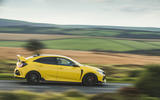 Britain's best affordable drivers car 2020 - Honda Civic Type R limited - panning
