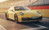2019 Porsche 911 Carrera S track drive - track front