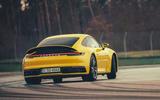 2019 Porsche 911 Carrera S track drive - cornering rear