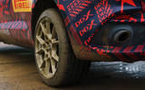 2020 Aston Martin DBX camouflaged prototype ride - muddy exhaust