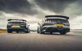 76 Camaro ZL1 vs Sutton Mustang 2021 duo rear