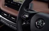 76 Enyaq vs Ioniq 5 2021 Skoda steering wheel