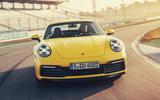 2019 Porsche 911 Carrera S track drive - cornering front
