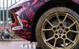 2020 Aston Martin DBX camouflaged prototype ride - muddy wheels