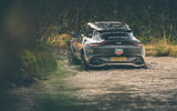 Aston Martin DBX 2020 prototype drive - wading rear