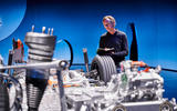 77 Mercedes EQS official reveal images GK powertrain