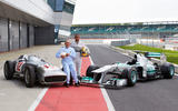 70 years of Formula One - Mercedes then and now