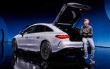 78 Mercedes EQS official reveal images GK notes