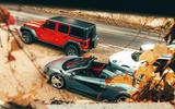 Jeep Wrangler and McLaren 600LT