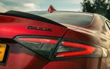 Alfa Romeo Giulia Quadrifoglio 2020 UK first drive review - rear lights