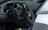 Aston Martin DB11 AMR 2018 review steering wheel