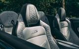 Aston Martin DBS Superleggera Volante 2019 UK first drive review - seats