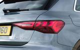 Audi A3 Sportback 2020 UK first drive review - rear lights