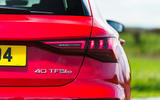 Audi A3 TFSIe 2020 UK first drive review - rear lights
