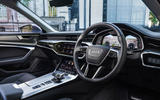 8 Audi A6 TFSIe 2021 UK first drive review steering wheel