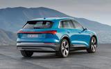 Audi E-tron 2019 official reveal static rear