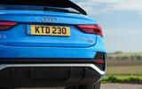 Audi Q3 Sportback 2019 UK first drive review - rear end