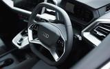 8 Audi Q4 E Tron Sportback 2021 UK FD steering wheel