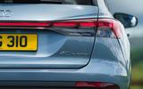 8 Audi Q4 etron 2021 UK FD rear lights
