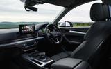 Audi Q5 40 TDI Sport 2020 UK first drive review - cabin