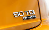 Audi Q8 50 TDI Quattro S-Line 2018 UK first drive boot badge