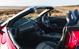 Audi R8 Spyder 2019 UK first drive review - passenger seat