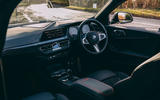 8 BMW 1 Series 128ti 2021 UK first drive review cabin