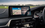 BMW 5 Series M550i 2020 UK first drive - infotainment