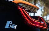 BMW i8 Roadster 2018 UK first drive review - rear lights