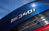 BMW M340i xDrive 2019 first drive review - rear badge