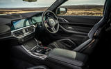8 BMW M4 2021 UK first drive review dashboard