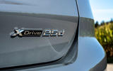BMW X1 25d 2019 first drive review - rear badge