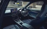 8 Cupra Formentor VZ2 2021 UK first drive cabin