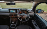 8 Dacia Sandero BiFuel 2021 UK first drive dashboard