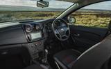 Dacia Sandero Stepway Techroad 2019 first drive review - dashboard