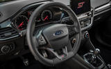 Ford Fiesta ST 2018 review steering wheel