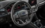 Ford Fiesta ST 2018 review steering wheel