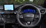 8 Ford Kuga Ecoblue MHEV 2021 UK first drive dashboard