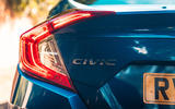 Honda Civic saloon 2018 UK first drive review rear lights
