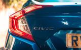 Honda Civic saloon 2018 UK first drive review rear lights