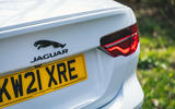 8 Jaguar XE P250 R Dynamic 2021 UK FD rear badge