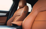 8 Jaguar XF 2021 UK first drive review front seats