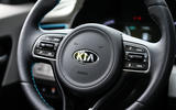 Kia Niro EV 2019 first drive review steering wheel