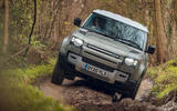 Land Rover Defender 110 2020 UK first drive review - offroad angle