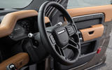 Land Rover Defender 90 P400 X 2020 UK first drive review - steering wheel