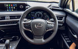 8 Lexus UX300e 2021 UK first drive review steering wheel
