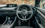Mazda 3 2019 UK first drive review - steering wheel