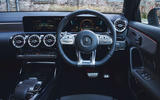 Mercedes-AMG A35 2019 UK first drive review - steering wheel
